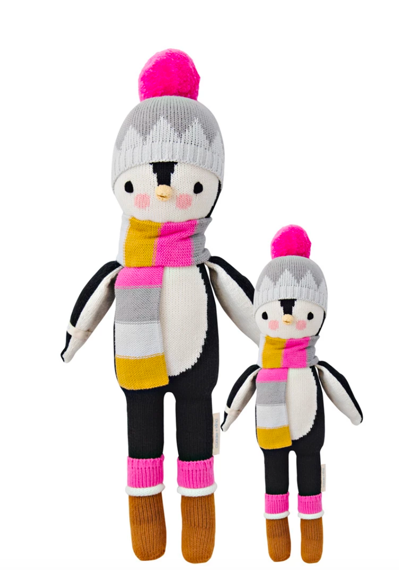 Cuddle + Kind Aspen the Penguin knit doll