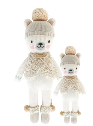 Cuddle+Kind stella the polar bear knit doll