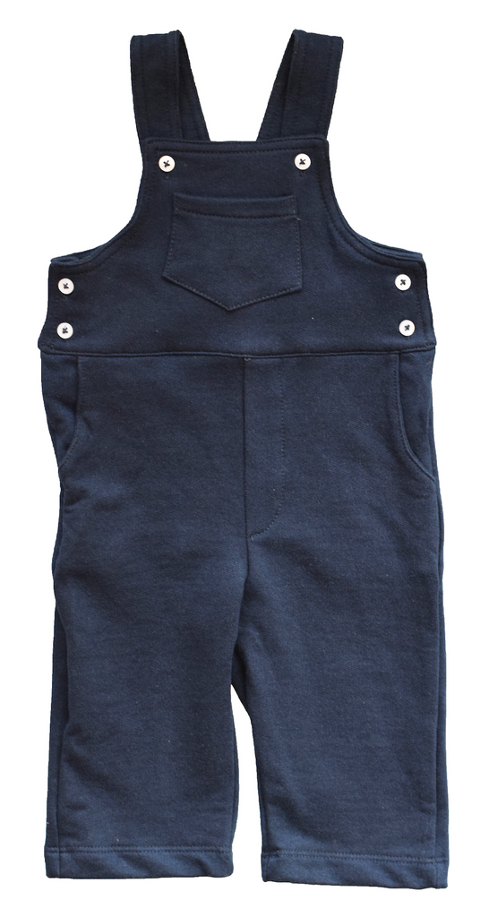 Pineapple sunshine navy knit dungaree