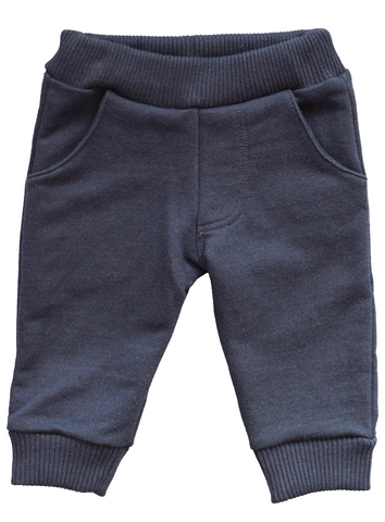 pineapple sunshine navy knit jogger