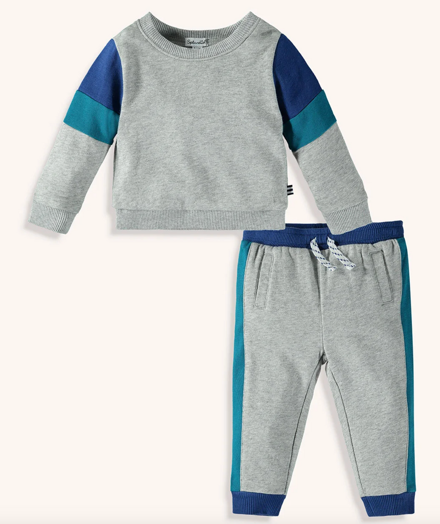 splendid boys sweat suit jogger set