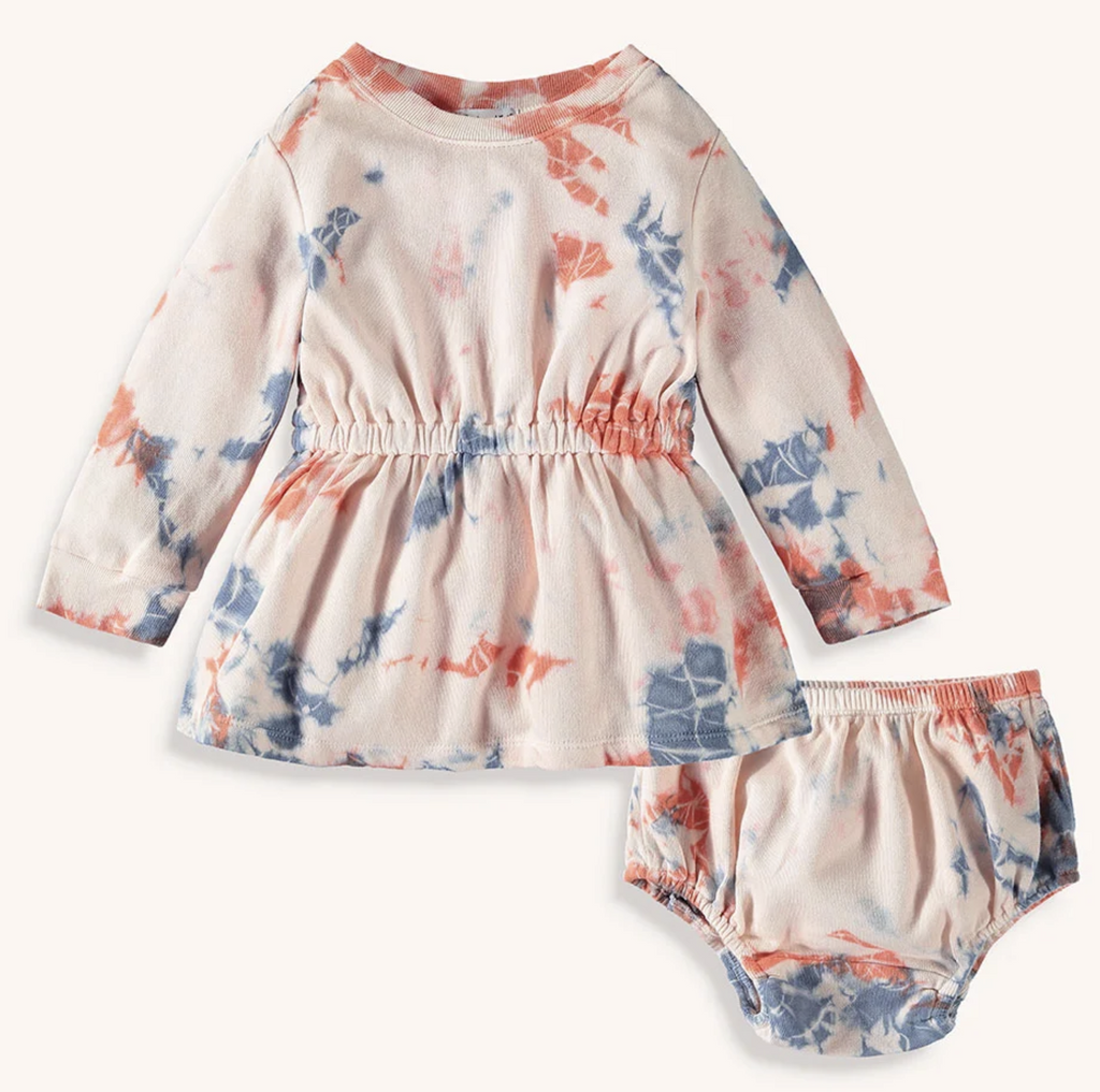 splendid littles girls tie dye dress set
