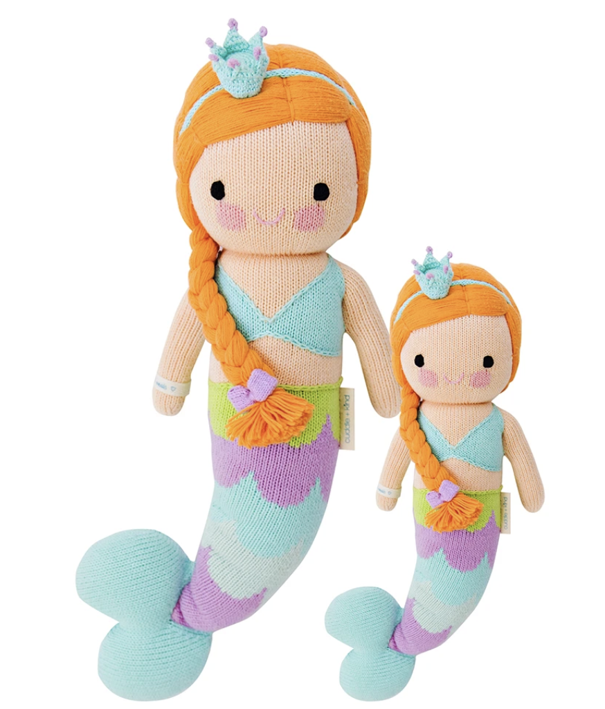 Cuddle and kInd Isa the mermaid knit doll
