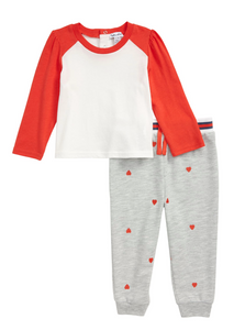 Splendid heart jogger set for girls