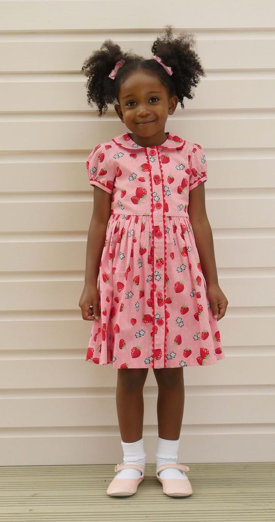Strawberry Button-Down Dress