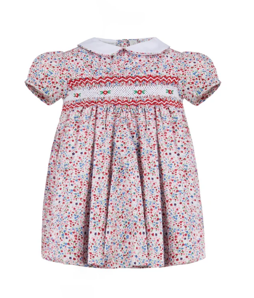 Carriage Boutique pink floral smocked dress