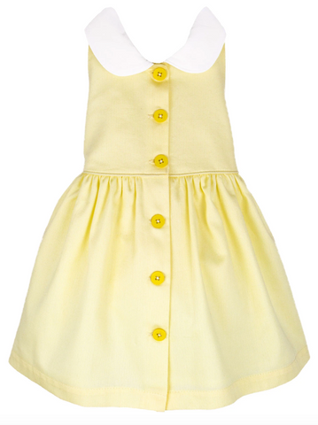 Isabel Garreton Yellow Button front sundress
