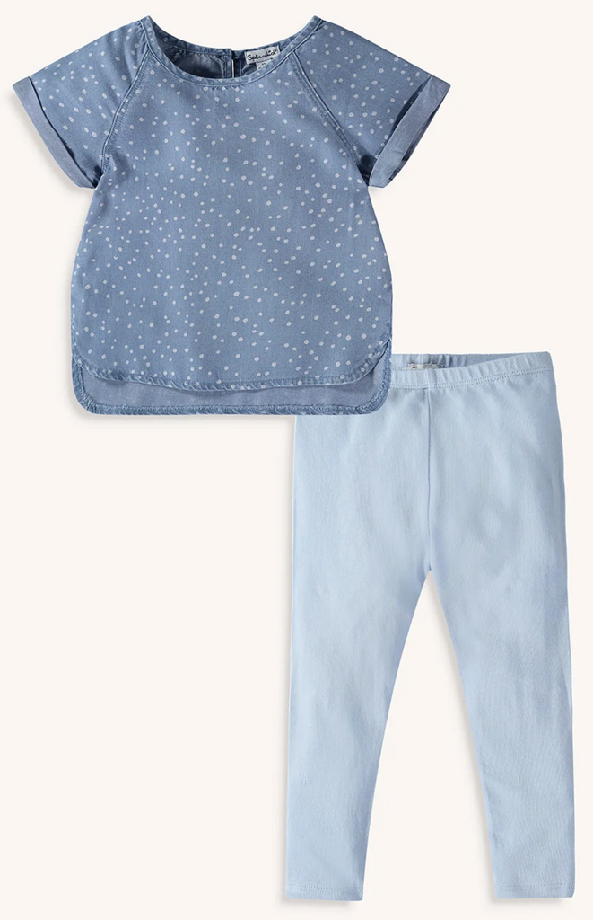 Splendid littles chambray dot legging set
