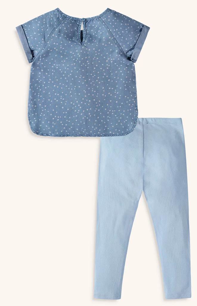 Chambray Dot Legging Set