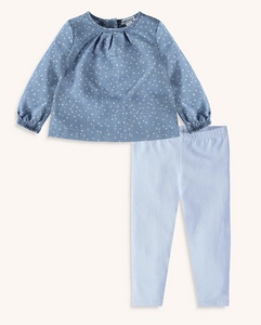 Splendid littles chambray dot legging set infant