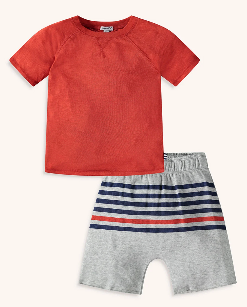 Splendid littles boys short set in red
