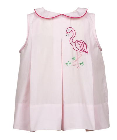 Pink Dress with Flamingo Design