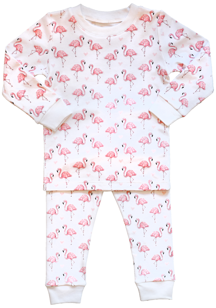 Pineapple Sunshine Flamingo Print Pajama set