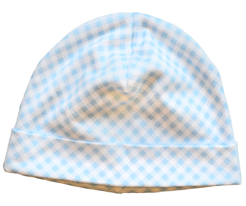 Blue Gingham Hat