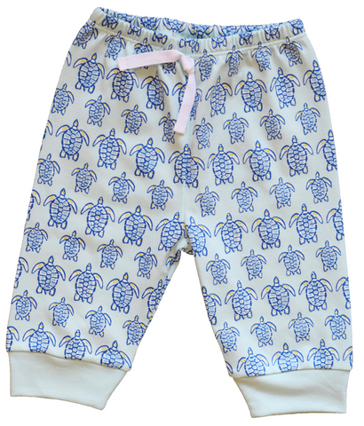 Pineapple Sunshine Blue Sea Turtle Jogger Pant