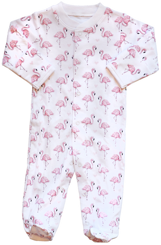 Pineapple Sunshine pink flamingo footie