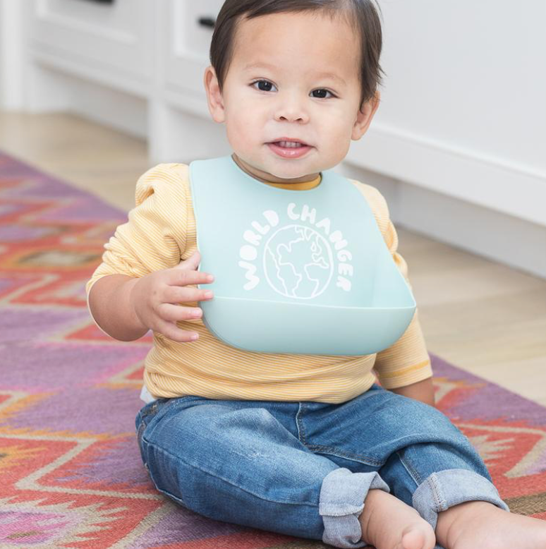 Bella Tunno World Changer Bib silicone catch bib- little birdies
