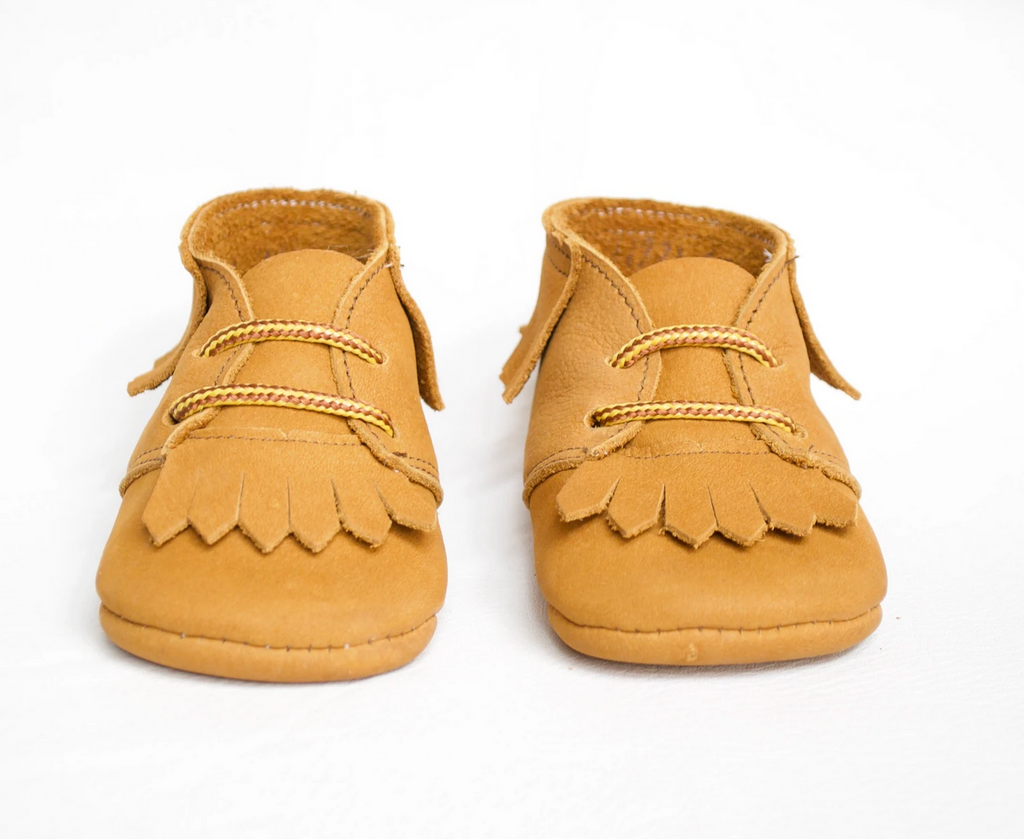 Zimmerman tan fringed desert boot