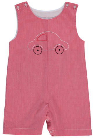 carriage boutique gingham jon jon with embroidered car