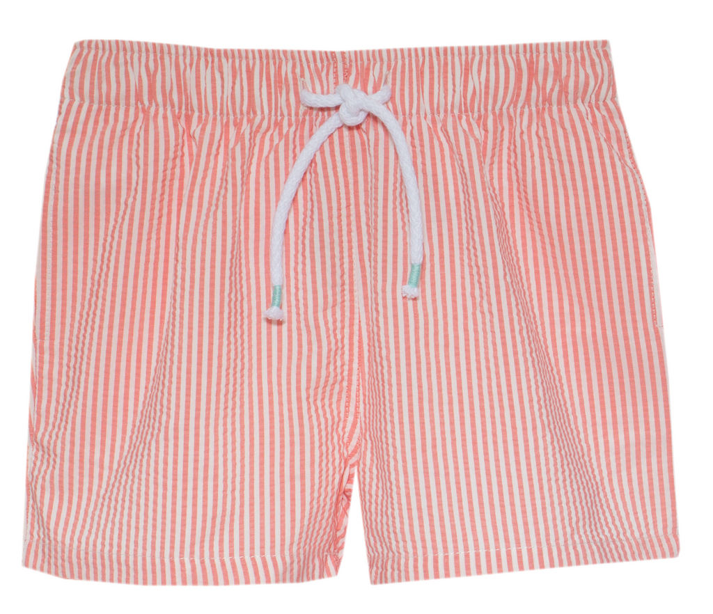 Patachou Boys Nantucket Red Swim shorts in seersucker