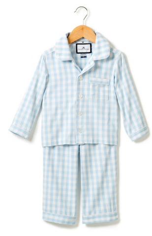 Petite Plume blue gingham 2 piece pajama set