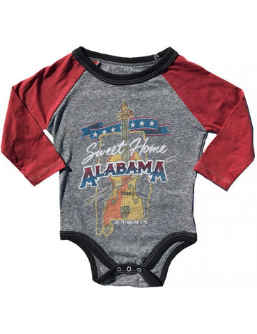 Sweet Home Alabama Raglan Onesie