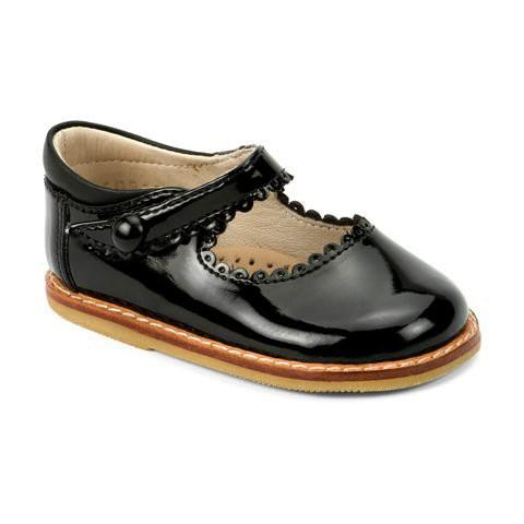 black patent mary jane leather girls shoe