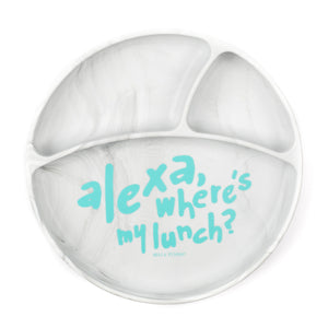 Bella Tunno suction plate 'Alexa wheres my lunch'