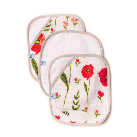 Poppy Washcloth Set