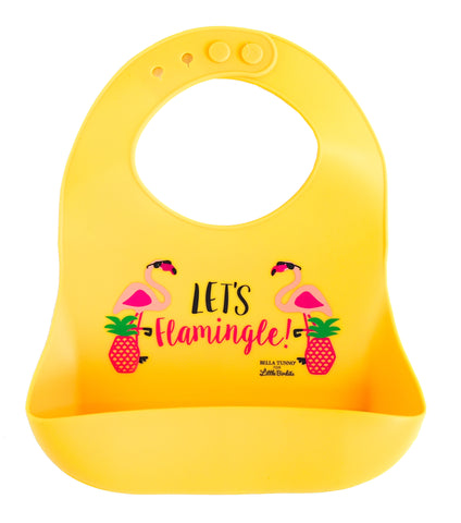 Exclusive! Let's Flamingle Catch Bib