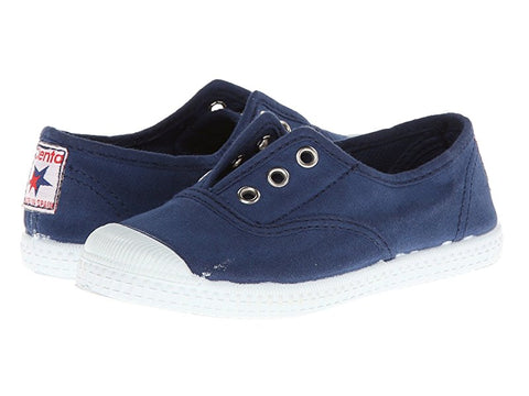 Navy Toe Cap Slip On