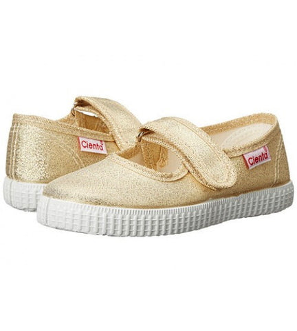 Gold Metallic girls cienta shoe