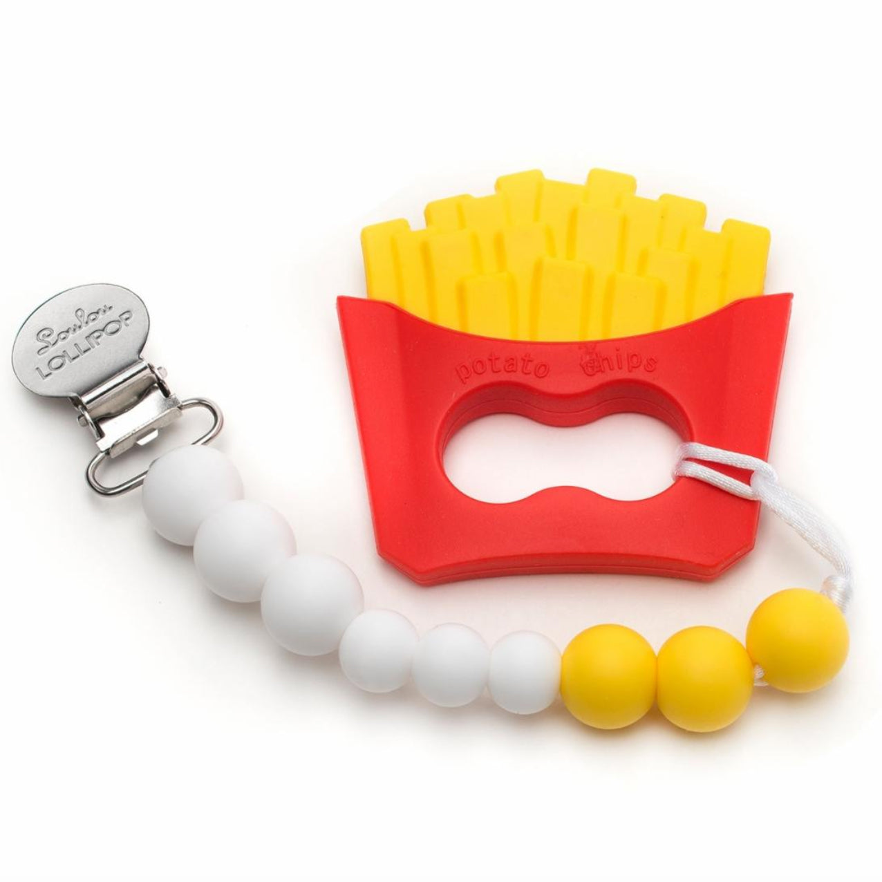 lou lou lollipop french fry teether set silicone