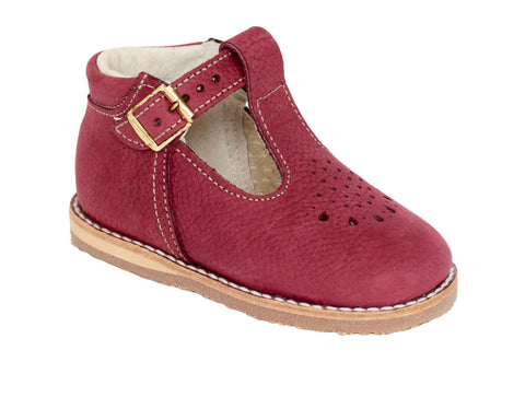 Greta T-Strap in Burgundy