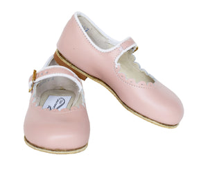 Zimmerman Shoes blush pink mary jane scalloped shoe