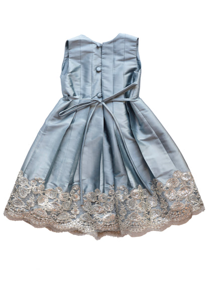 Taffeta Pleated Dress with Sequins