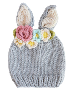 Bailey Bunny with Flowers Knit