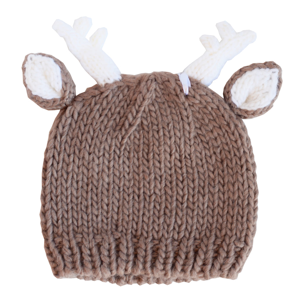 Hartley Deer Brown Knit Hat
