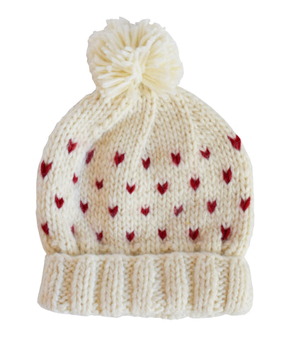 Sawyer Red Tiny Hearts Hat