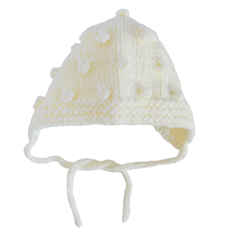 Coco Bonnet in Cream with Bubbles