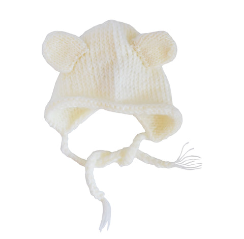Harper Bear Mohair Knit Bonnet