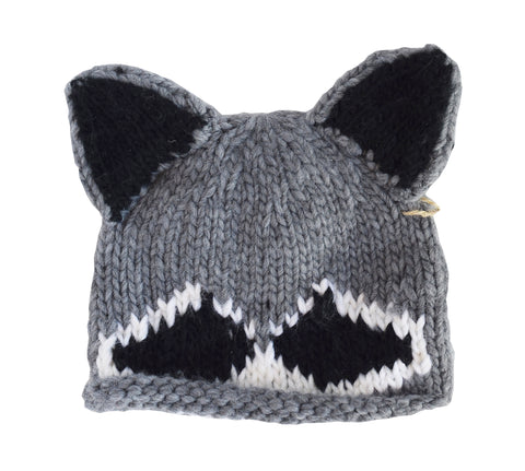 Roscoe Raccoon Knit Hat
