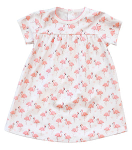 pineapple sunshine pink flamingo swing dress
