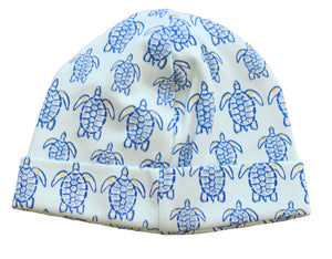 pineapple sunshine blue sea turtle hat