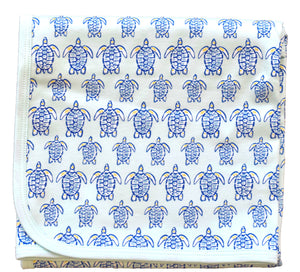 pineapple sunshine blue sea turtle blanket