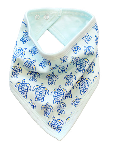 pineapple sunshine blue sea turtle bandana bib