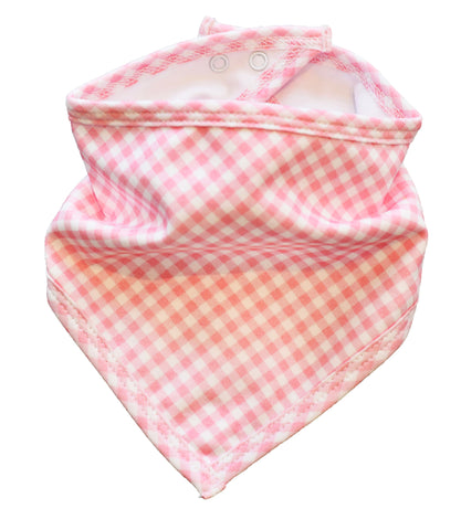 pineapple sunshine pink gingham bandana bib