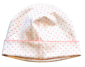 pineapple sunshine pink polka dot newborn hat