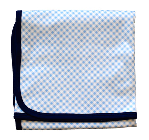 pineapple sunshine blue gingham blanket swaddle stroller blanket