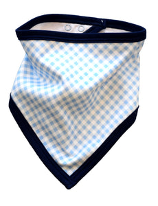 pineapple sunshine blue gingham bandana bib